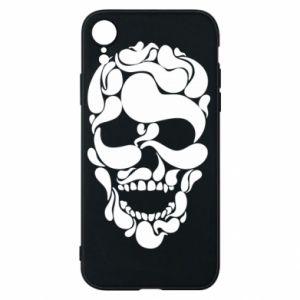 Phone case for iPhone XR Skull brush