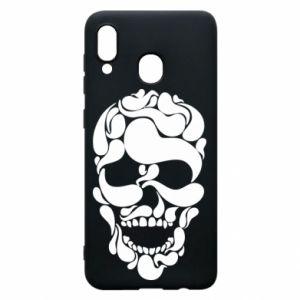 Phone case for Samsung A20 Skull brush
