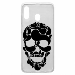 Phone case for Samsung A30 Skull brush