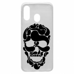 Phone case for Samsung A40 Skull brush