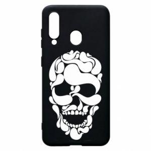 Phone case for Samsung A60 Skull brush