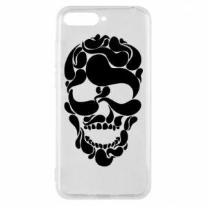 Phone case for Huawei Y6 2018 Skull brush