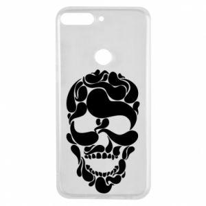 Phone case for Huawei Y7 Prime 2018 Skull brush