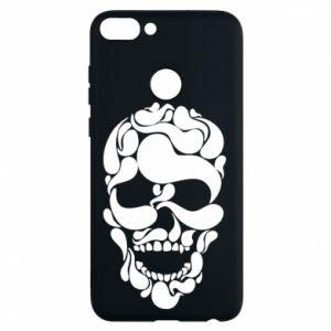 Phone case for Huawei P Smart Skull brush