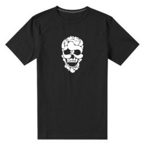 Męska premium koszulka Skull brush