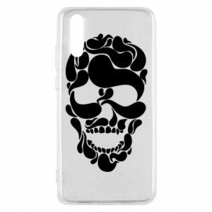 Phone case for Huawei P20 Skull brush