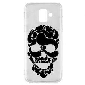 Phone case for Samsung A6 2018 Skull brush