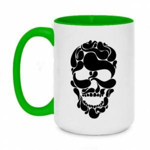 Two-toned mug 450ml Skull brush