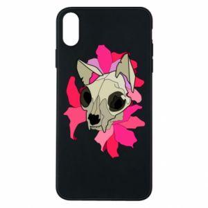 Etui na iPhone Xs Max Skull of a cat