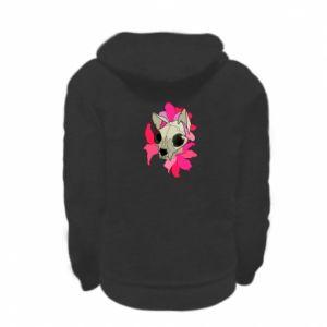 Bluza na zamek dziecięca Skull of a cat