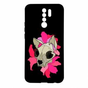 Etui na Xiaomi Redmi 9 Skull of a cat
