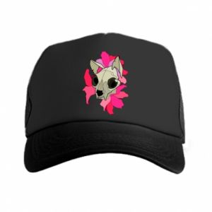 Trucker hat Skull of a cat - PrintSalon