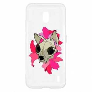 Etui na Nokia 2.2 Skull of a cat
