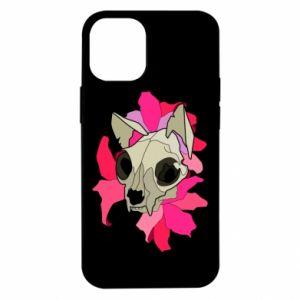 Etui na iPhone 12 Mini Skull of a cat