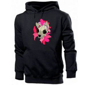 Men's hoodie Skull of a cat - PrintSalon