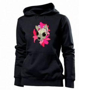 Women's hoodies Skull of a cat