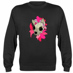 Sweatshirt Skull of a cat - PrintSalon