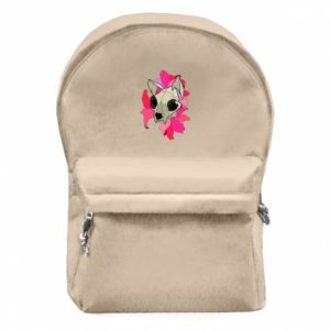 Backpack with front pocket Skull of a cat - PrintSalon