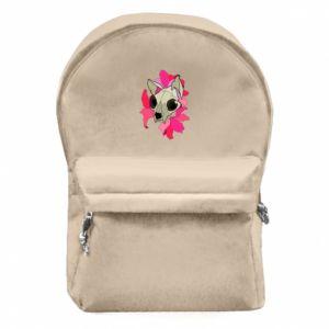 Plecak z przednią kieszenią Skull of a cat