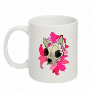 Mug 330ml Skull of a cat - PrintSalon