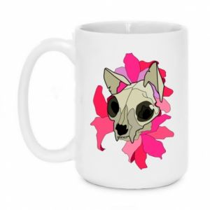 Mug 450ml Skull of a cat - PrintSalon