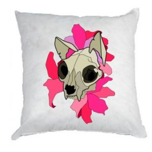 Pillow Skull of a cat - PrintSalon