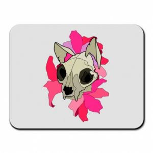 Mouse pad Skull of a cat - PrintSalon