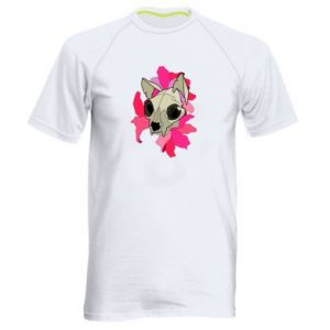 Men's sports t-shirt Skull of a cat