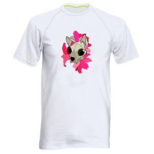 Koszulka sportowa męska Skull of a cat