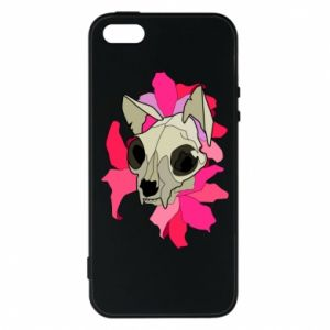 Phone case for iPhone 5/5S/SE Skull of a cat - PrintSalon