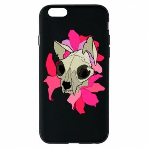 Phone case for iPhone 6/6S Skull of a cat - PrintSalon