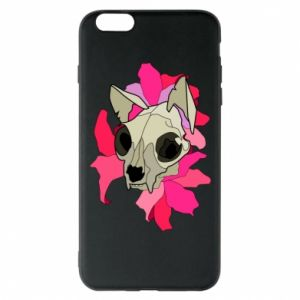 Phone case for iPhone 6 Plus/6S Plus Skull of a cat - PrintSalon