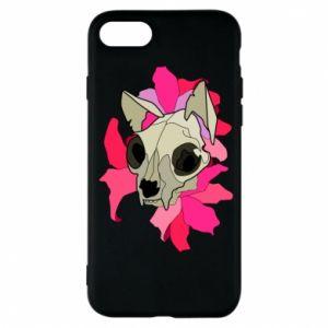 Etui na iPhone 7 Skull of a cat