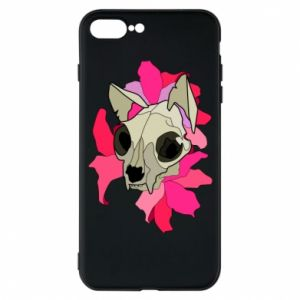 Phone case for iPhone 7 Plus Skull of a cat - PrintSalon