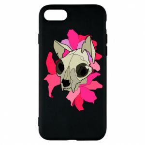 Phone case for iPhone 8 Skull of a cat - PrintSalon
