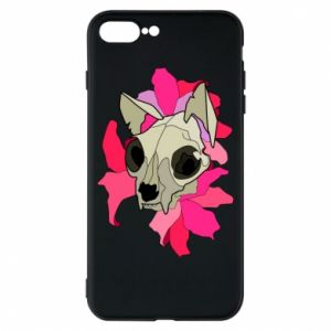 Phone case for iPhone 8 Plus Skull of a cat - PrintSalon