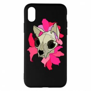Phone case for iPhone X/Xs Skull of a cat - PrintSalon