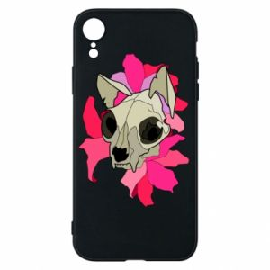 Phone case for iPhone XR Skull of a cat