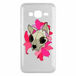 Phone case for Samsung J3 2016 Skull of a cat - PrintSalon