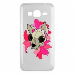 Etui na Samsung J3 2016 Skull of a cat