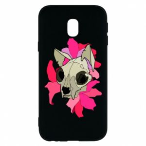 Phone case for Samsung J3 2017 Skull of a cat - PrintSalon