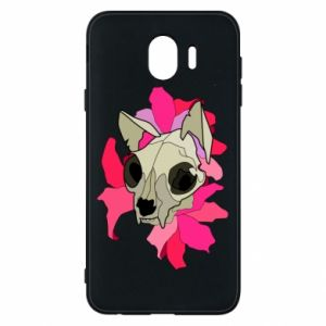 Phone case for Samsung J4 Skull of a cat