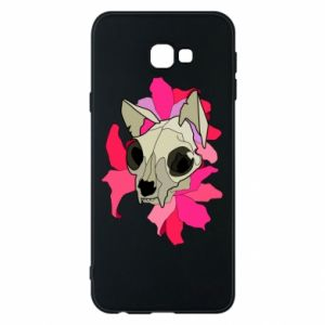 Phone case for Samsung J4 Plus 2018 Skull of a cat - PrintSalon