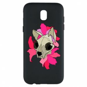 Phone case for Samsung J5 2017 Skull of a cat - PrintSalon