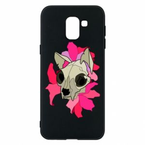 Phone case for Samsung J6 Skull of a cat - PrintSalon