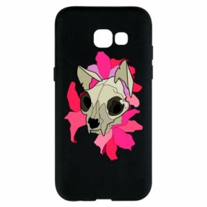 Phone case for Samsung A5 2017 Skull of a cat - PrintSalon