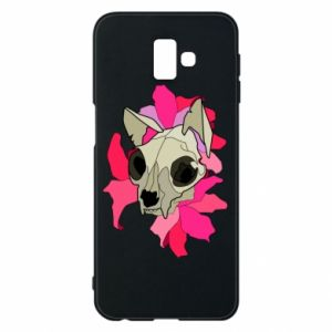 Phone case for Samsung J6 Plus 2018 Skull of a cat - PrintSalon