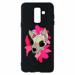 Phone case for Samsung A6+ 2018 Skull of a cat - PrintSalon