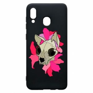 Phone case for Samsung A20 Skull of a cat - PrintSalon
