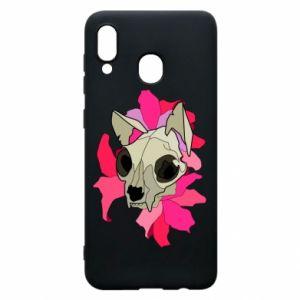 Etui na Samsung A20 Skull of a cat